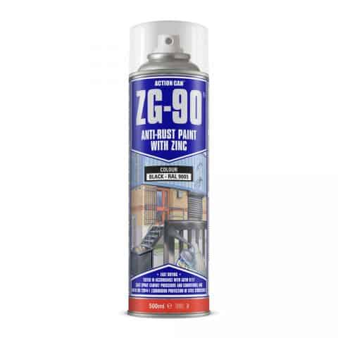 ZG-90-500ml-Black anti rust paint with zinc
